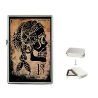 Gypsy skull flip top lighter | MakeArtAvailable - Accessories on ArtFire