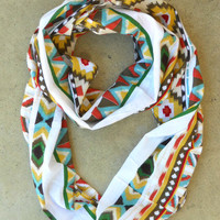 Dreamcatcher Infinity Scarf in Rust [3635] - $21.00 : Vintage Inspired Clothing & Affordable Fall Frocks, deloom | Modern. Vintage. Crafted.