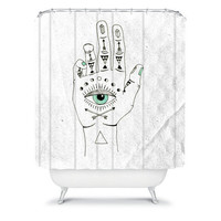 DENY Designs Home Accessories | Wesley Bird Eye See Hamsa Shower Curtain