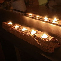 driftwood log tealight holder by the london garden trading company | notonthehighstreet.com