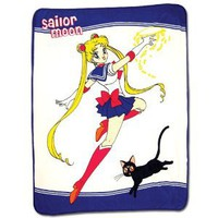 Amazon.com: Sailor Moon: Moon and Luna Throw Blanket: Everything Else