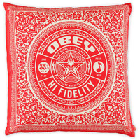 Obey Hi Fidelity Red Throw Pillow