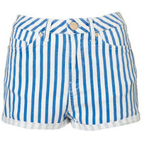 Petite Striped Denim Hotpants - New In This Week - New In - Topshop USA