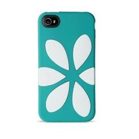 Amazon.com: Agent18 9504 FlowerVest for iPhone 4/4S - Face Plate - Retail Packaging - Turquoise/White: Cell Phones &amp; Accessories