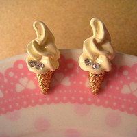 IceCream Earring Studs With Bling by Bitsofbling on Etsy