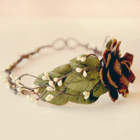 woodland hair crown 'windswept' by whichgoose on Etsy