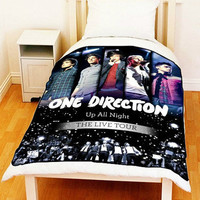 "Fleece Blanket ONE DIRECTION 1D Up All Night Bed Throw Fleece Blanket New Size 60"" x 80"""