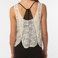 Kimchi Blue Tulip Back Lace Tank