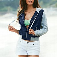 Fleece Twill Hoodie - Victoria&#x27;s Secret