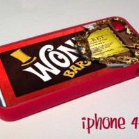 Amazon.com: Red Willy Wonka Chocolate Bar Golden ticket iPhone 4 4s Case Cover Rubber silicone: Cell Phones & Accessories