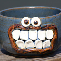 Funny Cereal Bowl NEW Spring Line by NelsonStudio on Etsy