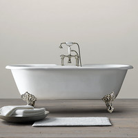 Vintage Imperial Clawfoot Soaking Tub with Metal Feet