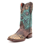 Dan Post Copper &amp; Turquoise Bluebird Cowgirl Boots DP2914 - PFI Western Store