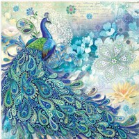 Amazon.com: Punch Studio Paisley Peacock Luncheon Napkins (2 Packs -- 40 Napkins): Health & Personal Care