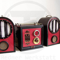 Victorian / steampunk hi-fi system ,  iPhone, iPod, Mp3 Amp