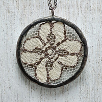 Old Lace Soldered Necklace by HouseThatCrowBuilt on Etsy