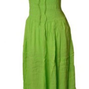 Amazon.com: Sexy Summer Lime Peasant Smocked Dress-Plus Size-4x5x: Clothing