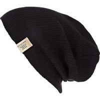 Black slouch beanie hat - hats - accessories - men