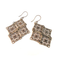 Lightweight Bronze Chandelier Earrings  by ASimpleKindOfFancy