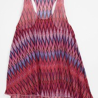 Vintage Havana Zigzag Tank Top (Big Girls) | Nordstrom