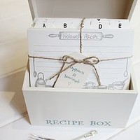Wooden Recipe Box