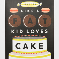 Erin Jang Fat Kid Loves Cake Art Print