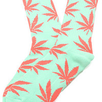 The HUF Plantlife Socks in Aqua