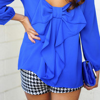 I Love You So Blouse: Royal Blue | Hope's