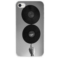 iPhone 4 /4S case Spinning Records  records by SkyeZPhotography
