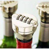 Combo Liquor/Wine Bottle Lock-Solid Stainless Steel