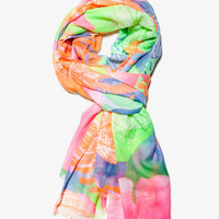 Tropical Floral Scarf