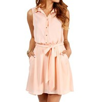 Blush Spike Collar Tunic