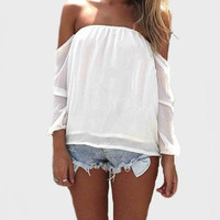 Wisteria Lane Off the Shoulder Blouse - Ivory -  $35.00 | Daily Chic Tops | International Shipping