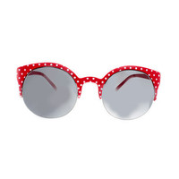 Red Polka Dot Cat Eye Sunglasses | VidaKush
