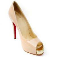 Patent Leather With Gold Toe Pumps [TQL120305015] - $50.49 :