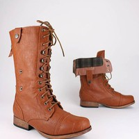 zip back combat boot &amp;#36;30.80 in WHISKY - Boots | GoJane.com