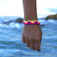 Neon Macrame Bracelet no.1