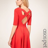 ASOS Petite | ASOS PETITE Exclusive Cross Back Skater Dress at ASOS