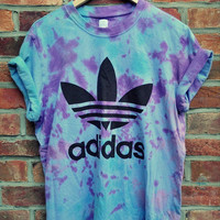 Tie Dye Trefoil tee