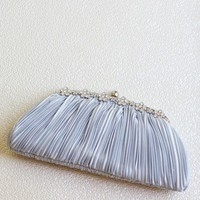 Full Of Hope Silver Clutch | Modern Vintage Accessories | Modern Vintage Bridal