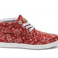 Barn Red Bandana Youth Botas | TOMS.com