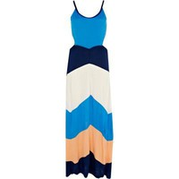 blue stripe cut out side maxi dress  - cover-ups - swimwear / beachwear - women - River Island