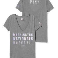 Washington Nationals Fitted V-Neck Tee