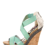 Dollhouse Precise Mint Textured Platform Wedge Sandals