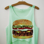 Triple Burger Crop Top | fresh-tops.com