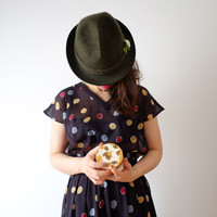 Spring dot dress, Japanese vintage, xs - small