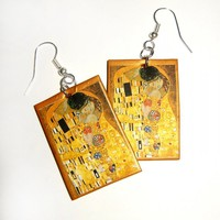 Klimt&#x27;s The Kiss Earrings For Art Lovers