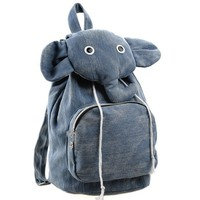 Cute Elephant Canvas Backpack  — FashionForever