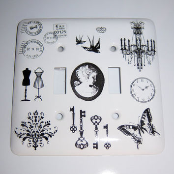 Chandelier double light switch cover