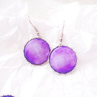 Purple lollipop earrings - Spring Collection